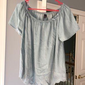 GAP off shoulder blouse top
